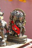 three faced Ganesha god