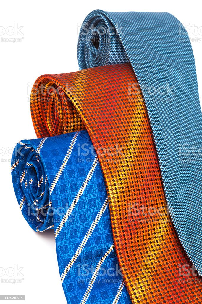 three fashionable ties stock photo