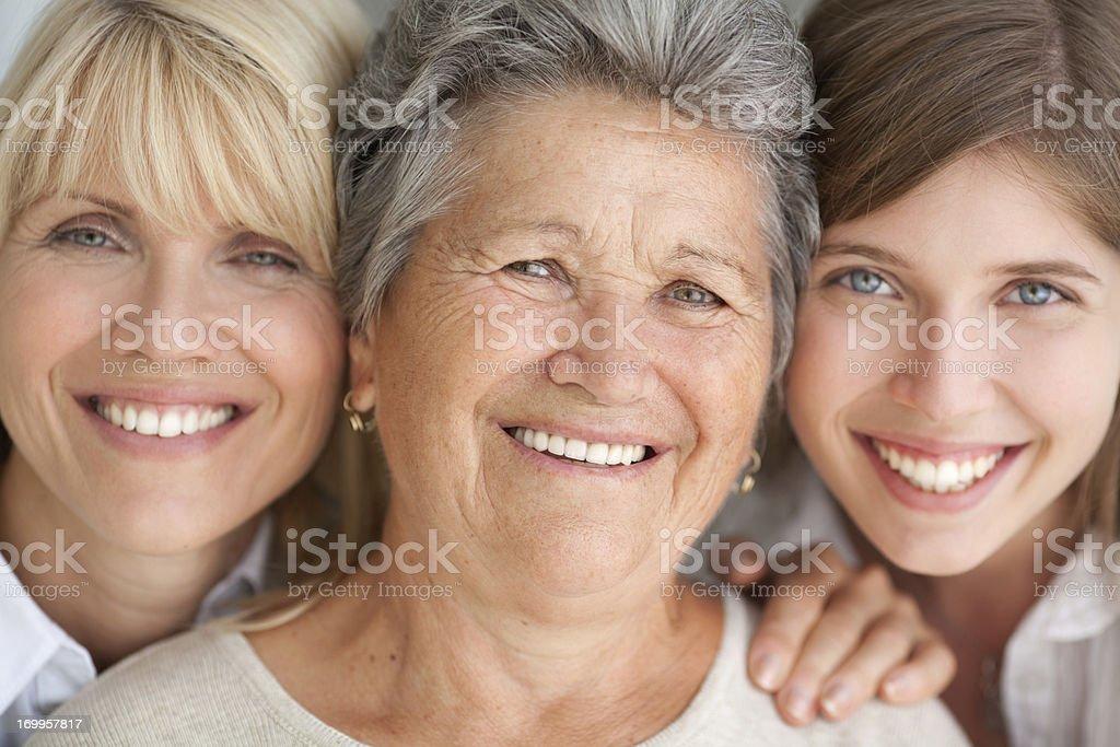 Three female generations. stock photo
