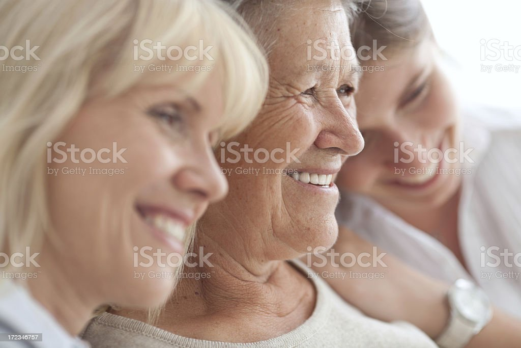 Three female generations stock photo