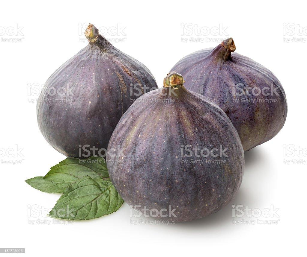 Three figs royalty-free stock photo
