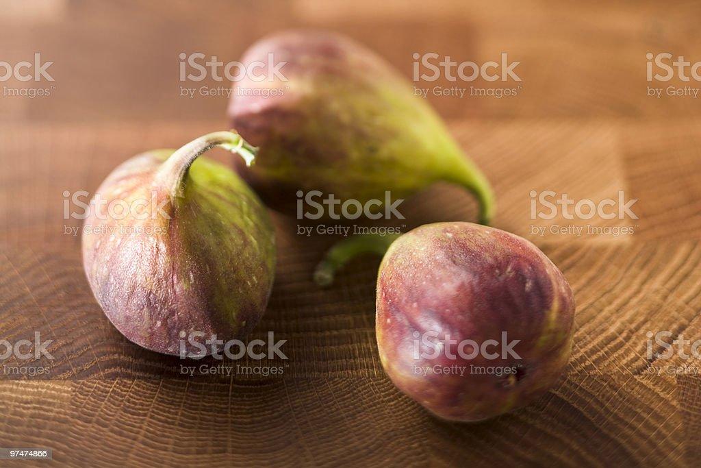 Three figs stock photo