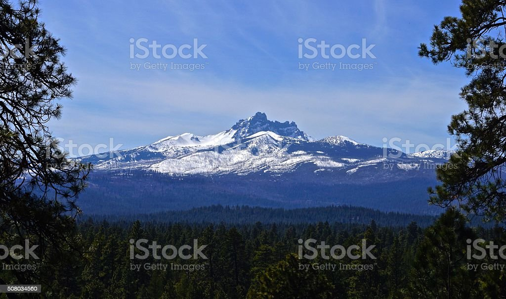 Three Fingered Jack Castle stock photo