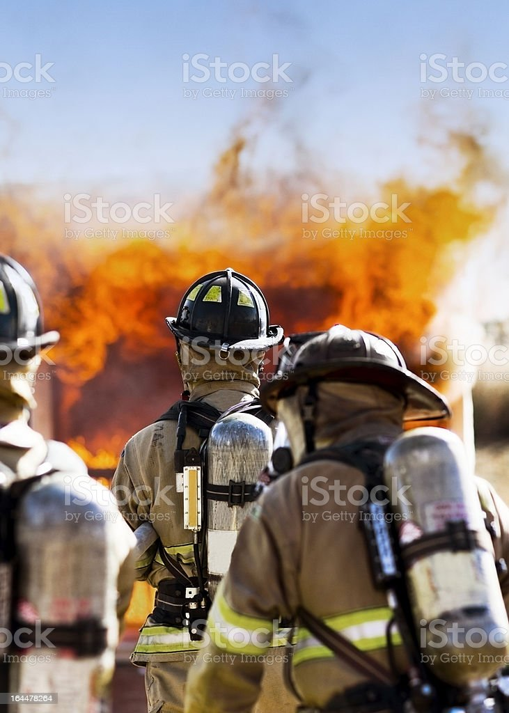 Three Firefighters royalty-free stock photo