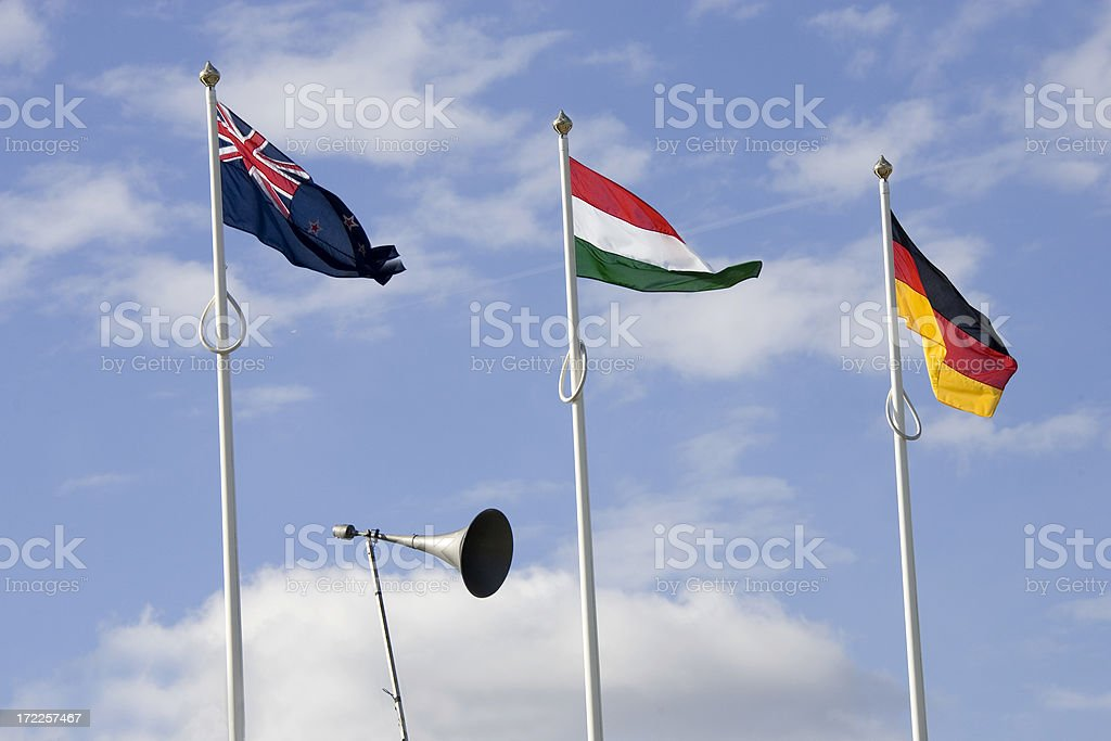 three flags royalty-free stock photo