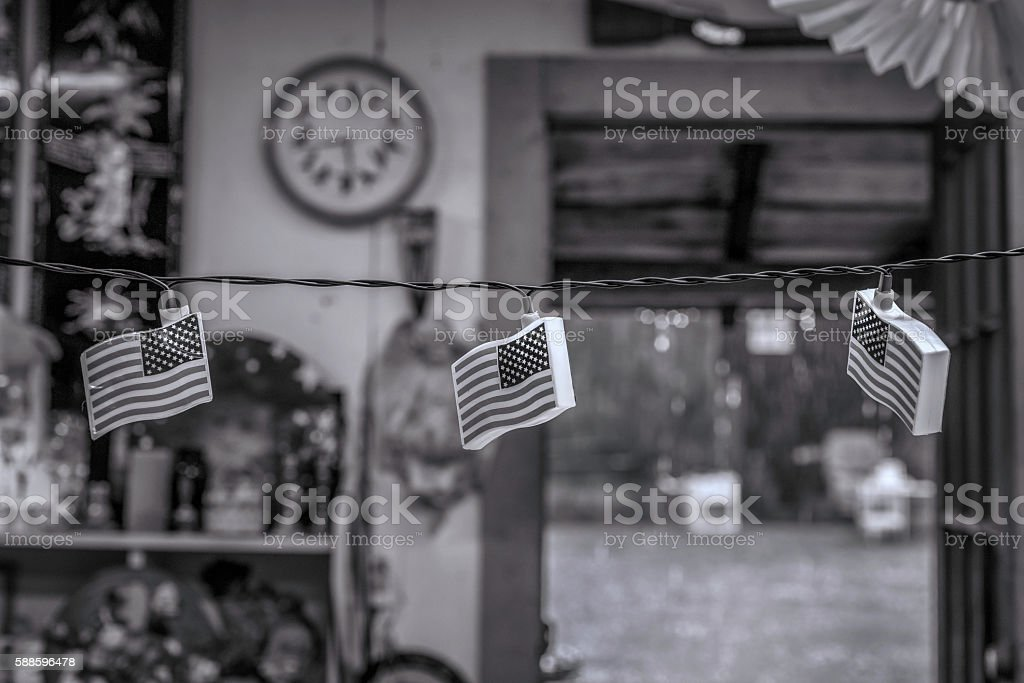 Three Flags stock photo