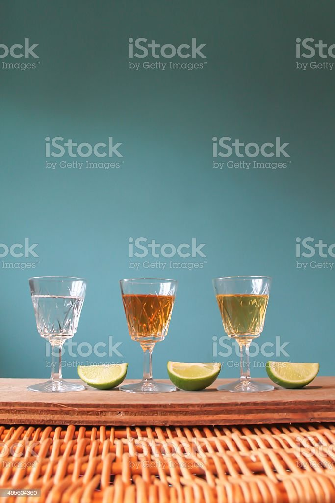Three Flavoured Liquors stock photo