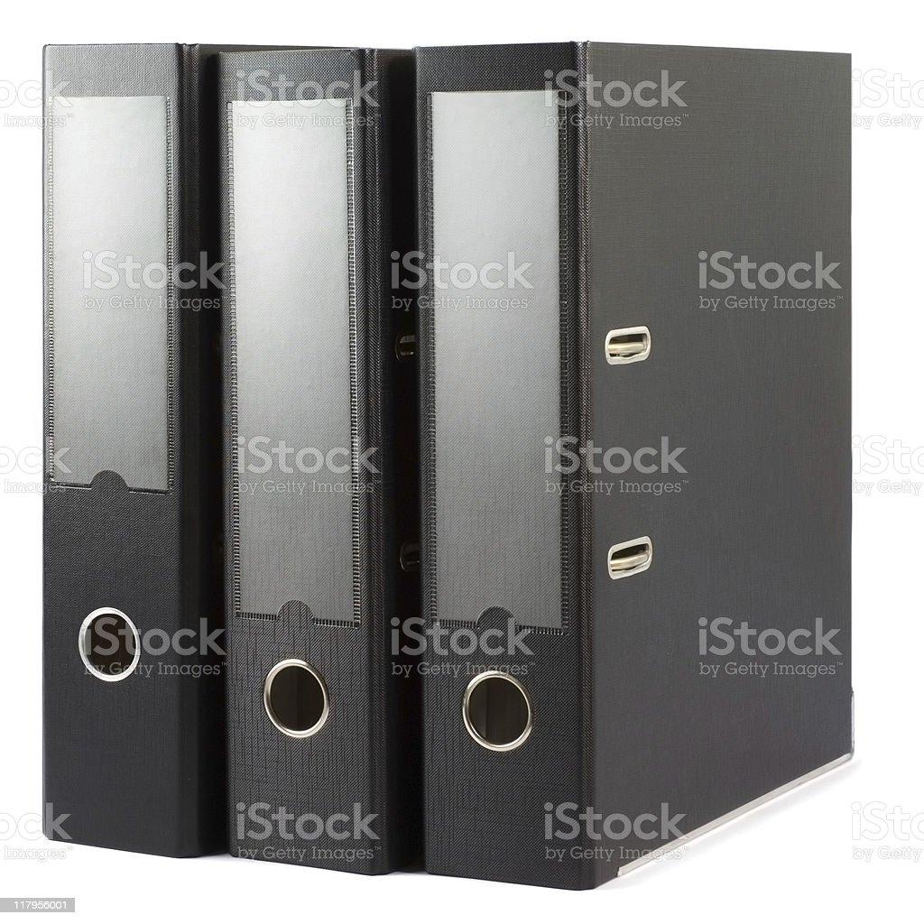 Three folders royalty-free stock photo