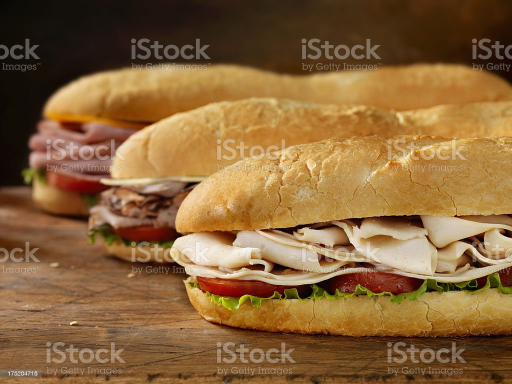 Three Foot Long Subs stock photo