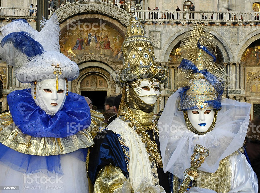 Three for Carnivale royalty-free stock photo