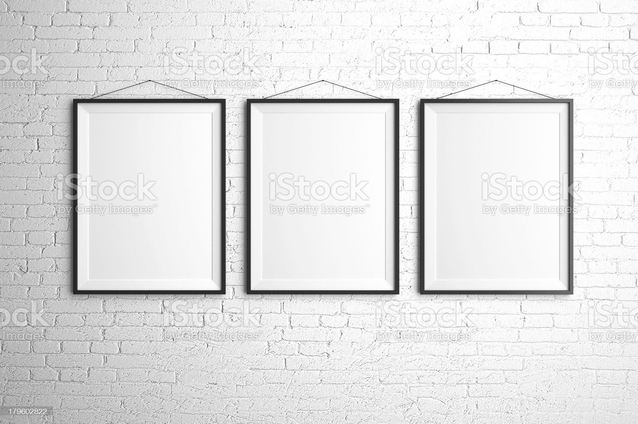 three frames royalty-free stock photo