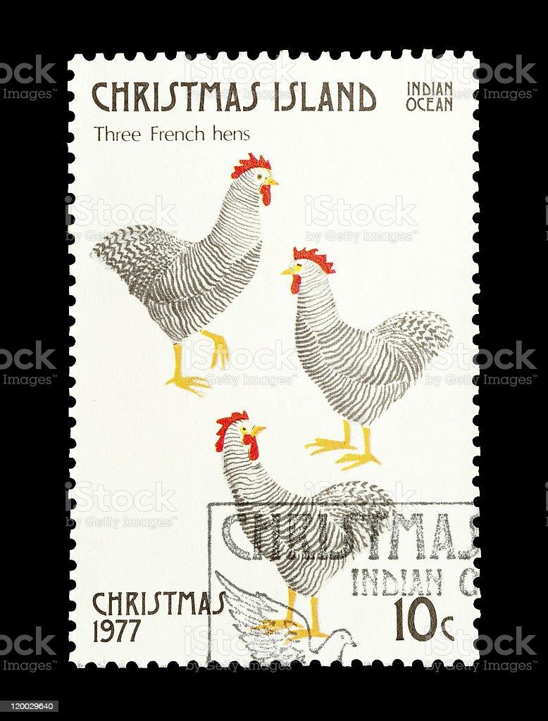 three french hens stock photo