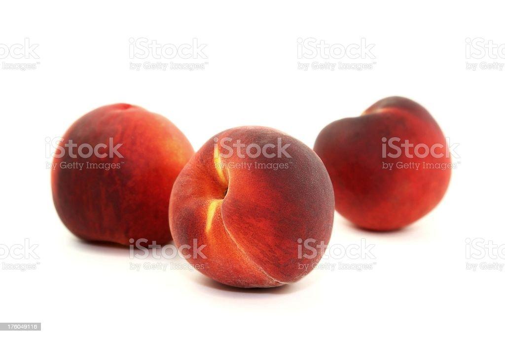Three Fresh Peaches royalty-free stock photo