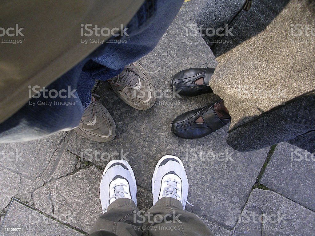 Three Friends, 6 Feet royalty-free stock photo