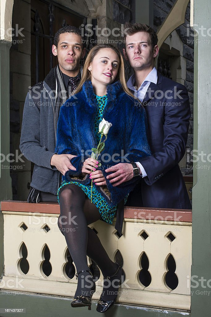 Three Friends royalty-free stock photo