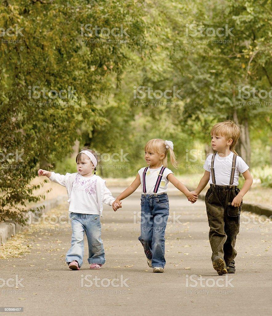Three friends royalty-free stock photo
