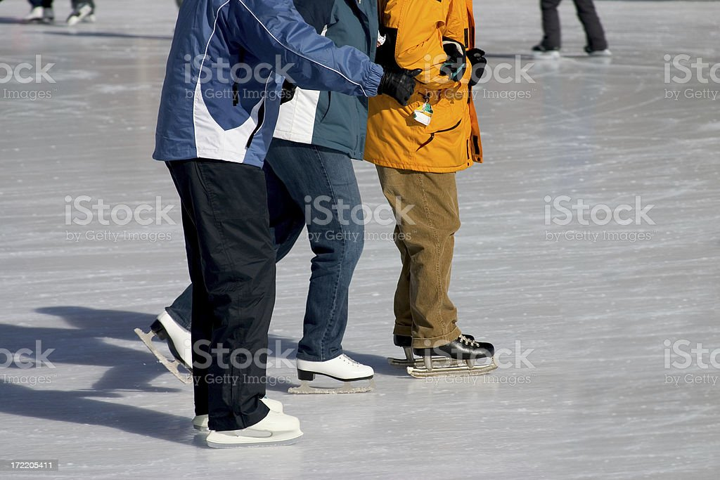 Three Friends Skating royalty-free stock photo