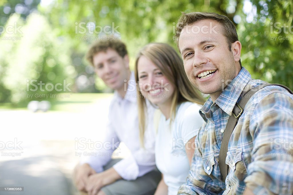 three friends together royalty-free stock photo