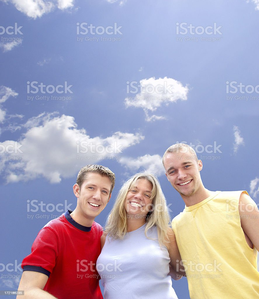 Three Friends (#2) w/path royalty-free stock photo