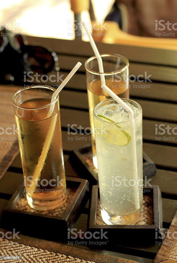 Three Fruit Juice royalty-free stock photo