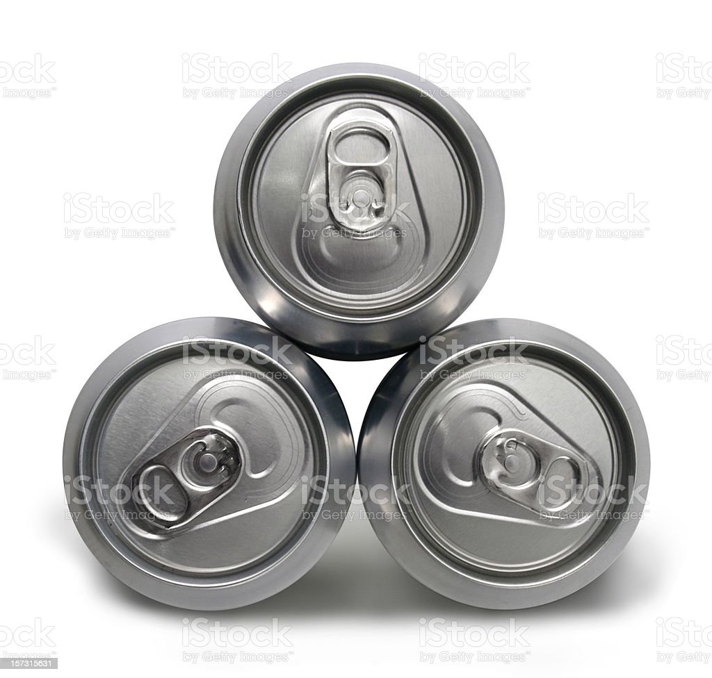 Three full cans royalty-free stock photo