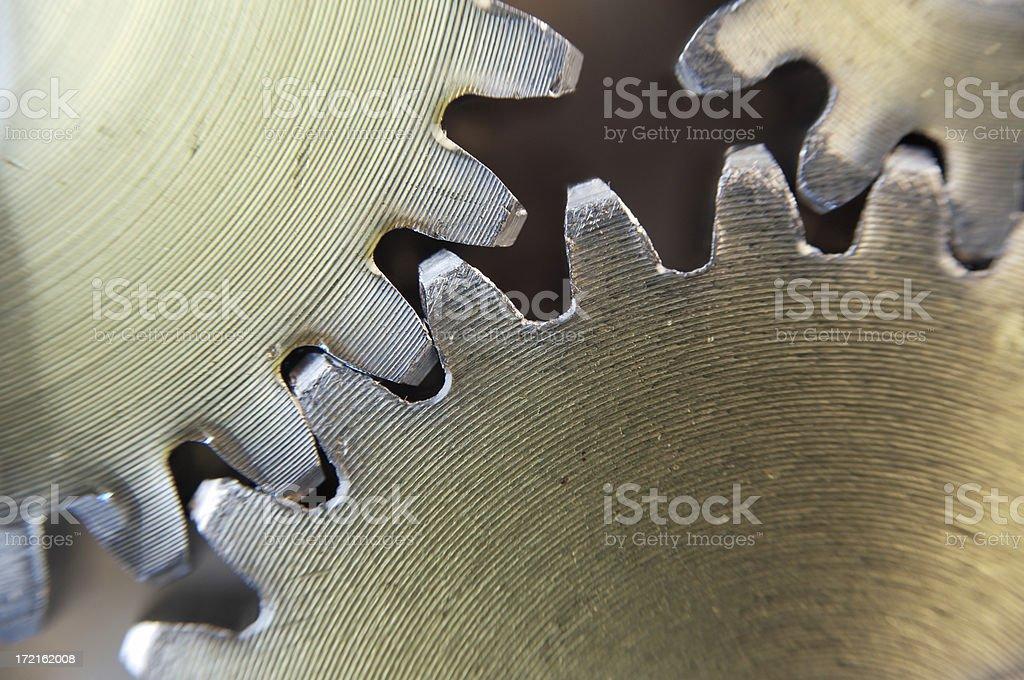 Three gears macro stock photo