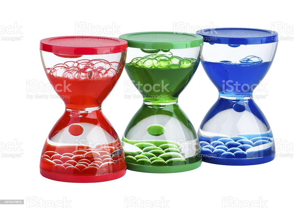 Três hourglasses gel foto de stock royalty-free