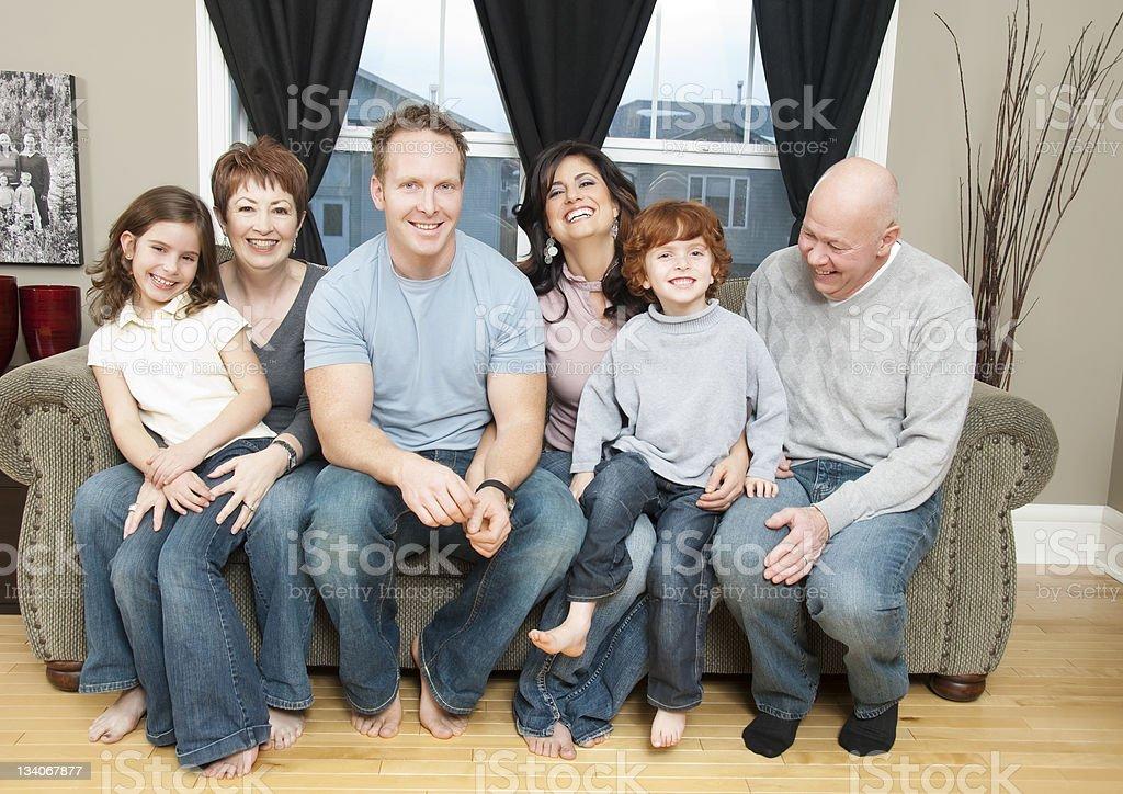 Three Generation Family at Home royalty-free stock photo