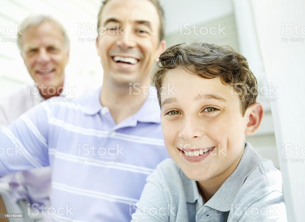 Three generation family having a good time together royalty-free stock photo