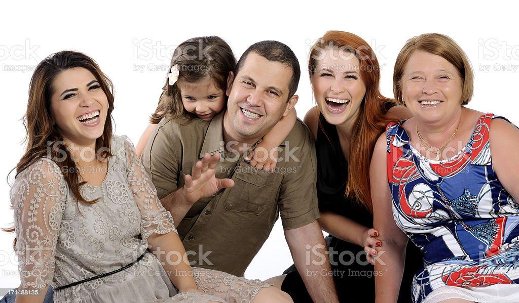 three generation family laughing royalty-free stock photo