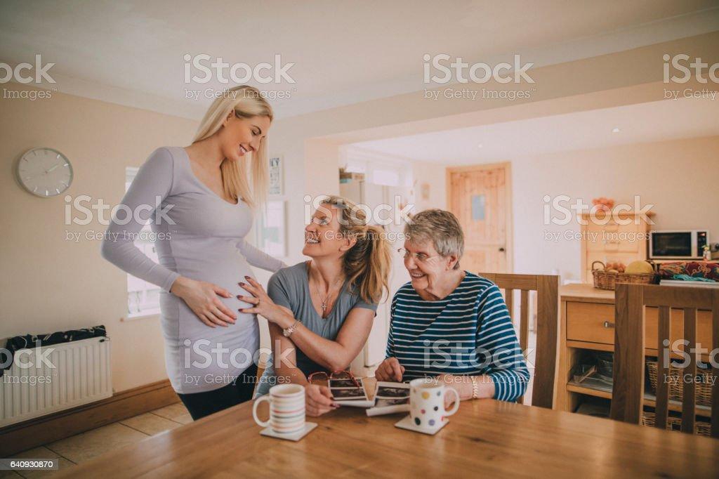 Three Generation Family of Women stock photo