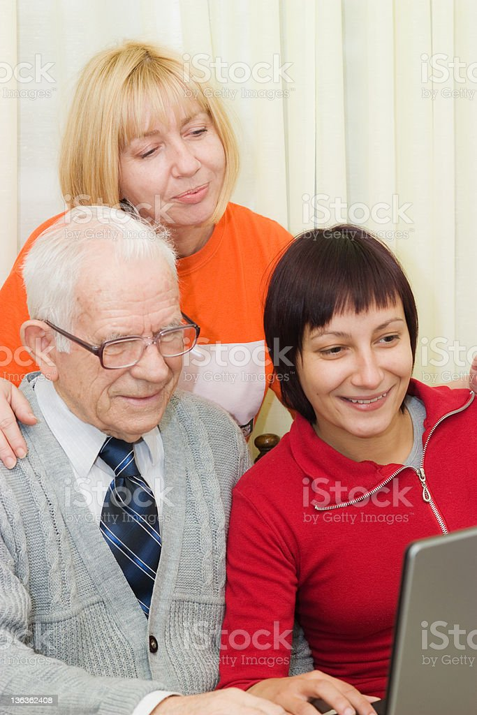 Three Generation Family royalty-free stock photo