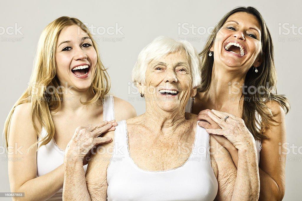 Three generation royalty-free stock photo