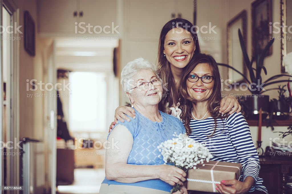 Three generation stock photo