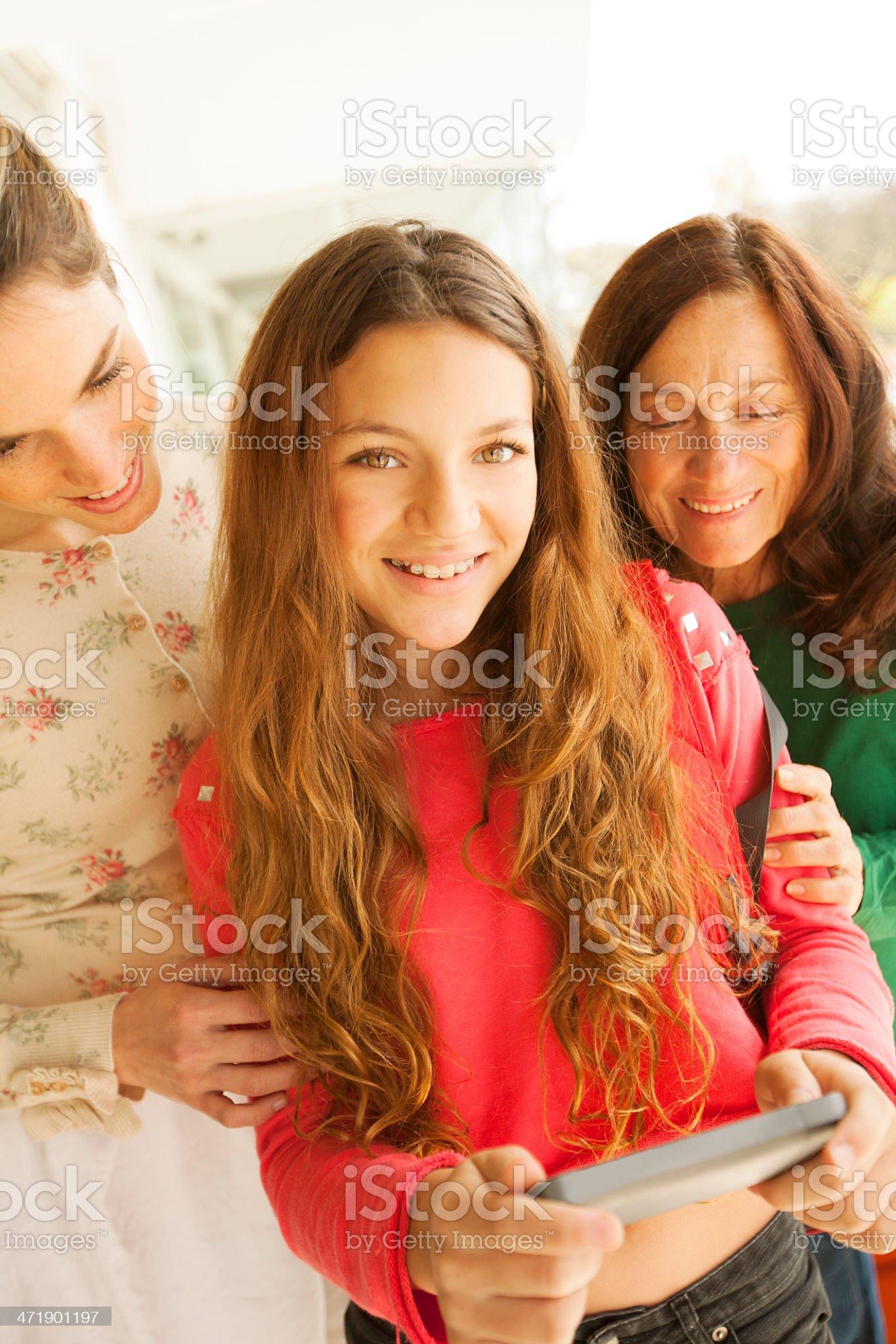 Three Generation Women royalty-free stock photo