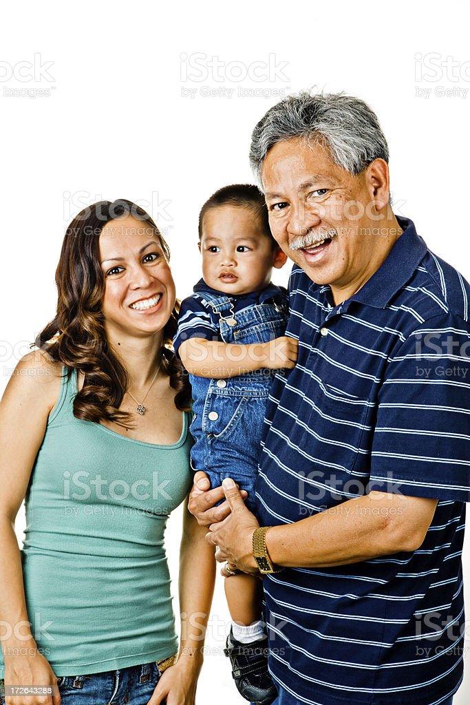 three generations of family royalty-free stock photo