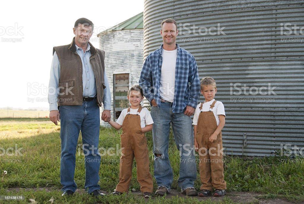 Three Generations of Farmers stock photo