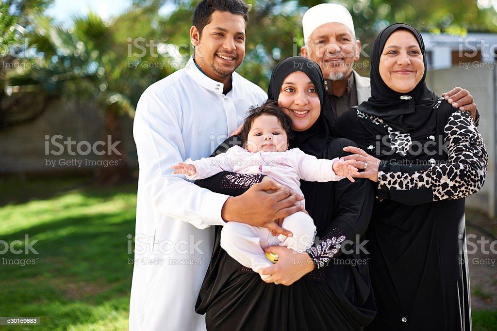 Three generations of love stock photo
