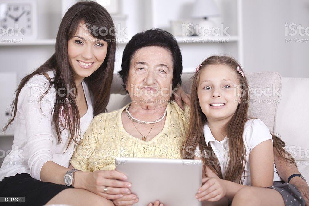 Three Generations of Women royalty-free stock photo