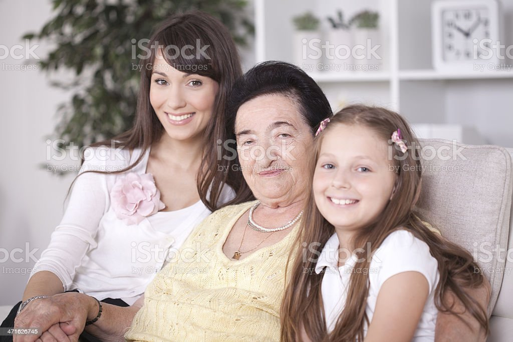 Three Generations of Women royalty-free stock photo