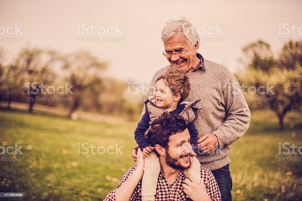 Three generations stock photo