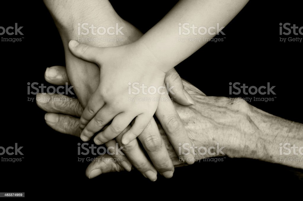 three generations royalty-free stock photo