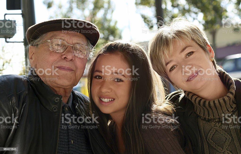 Three generations royalty-free stock photo