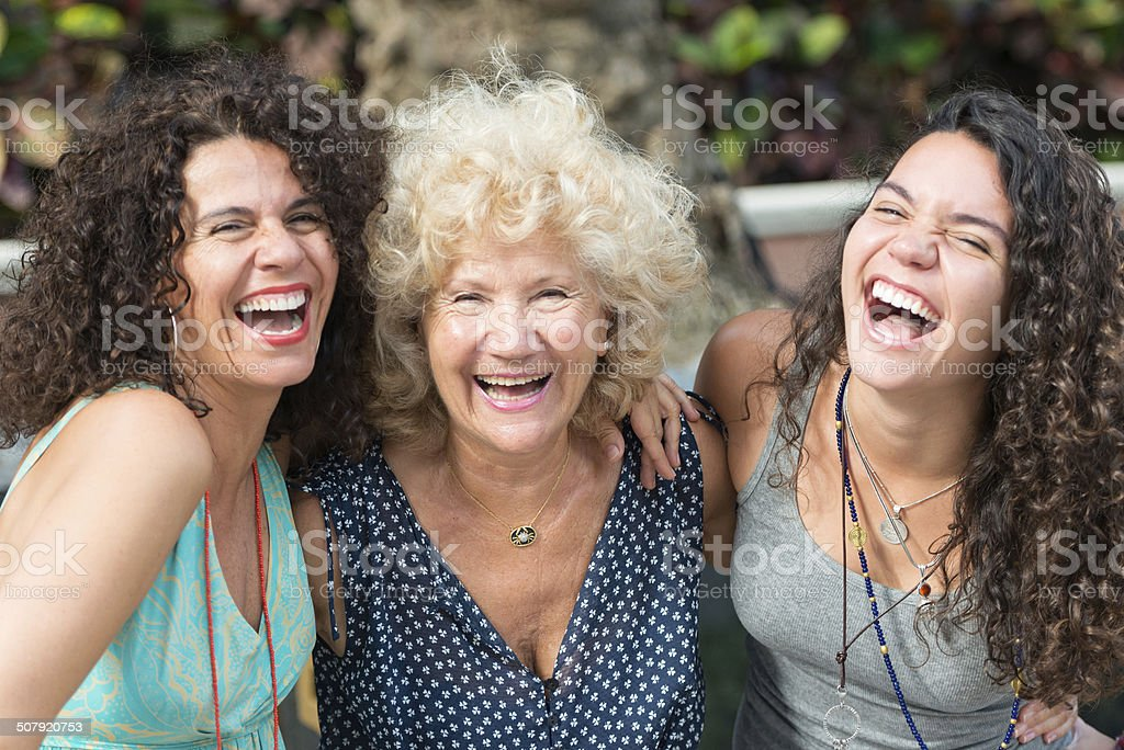 Three Generations Women stock photo