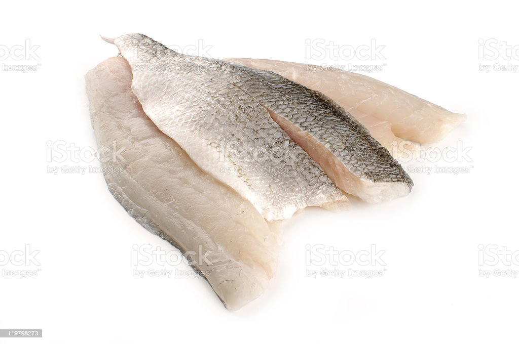 three Gilthead seabream fillets royalty-free stock photo