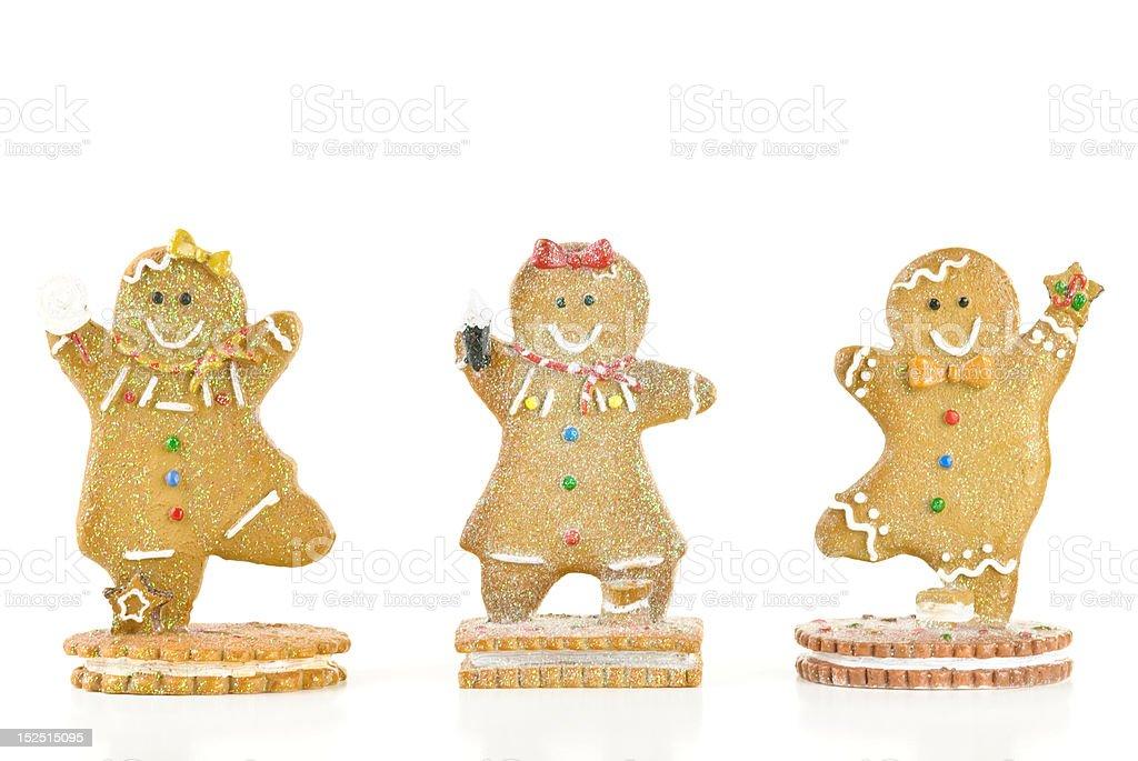 Three Gingerbread Men stock photo