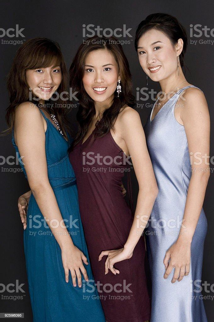 Three Girls royalty-free stock photo