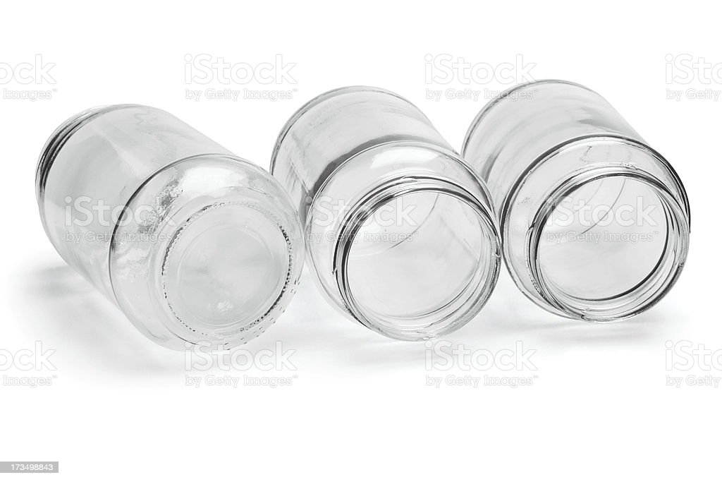 Three Glass Containers royalty-free stock photo