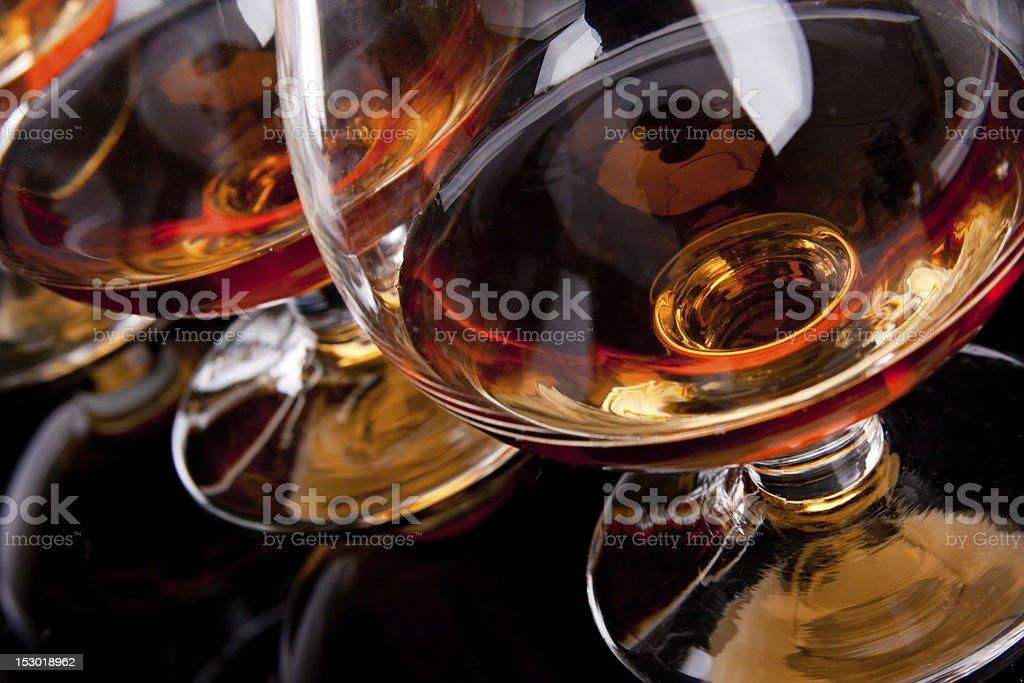 Three glasses of cognac royalty-free stock photo