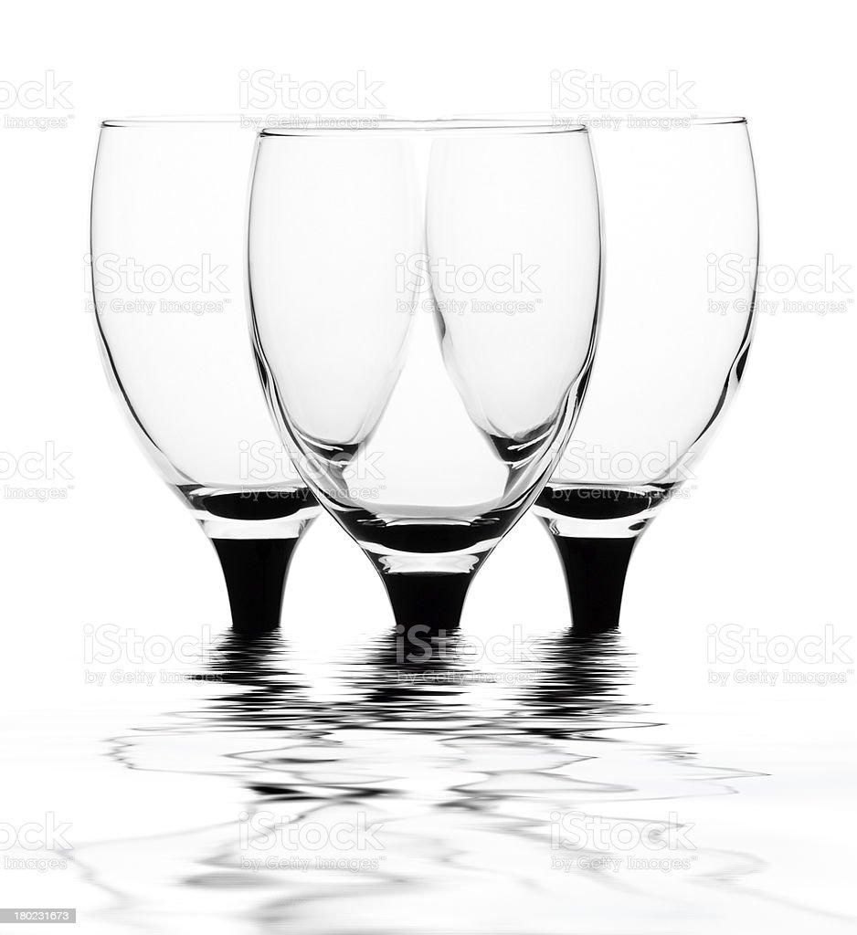 Three glasses of water royalty-free stock photo